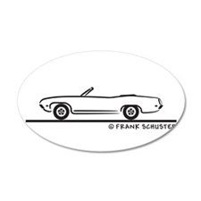 1971 Ford Torino Convertible 22x14 Oval Wall Peel