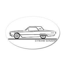 1966 Ford Thunderbird Hard To 38.5 x 24.5 Oval Wal