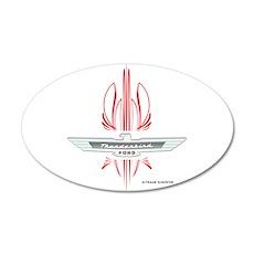 T Bird Emblem with Pinstripes 22x14 Oval Wall Peel