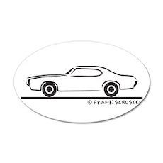 1969 Pontiac GTO Coupe 22x14 Oval Wall Peel