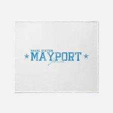 Naval Station Mayport Throw Blanket