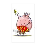 RoDeO PiG Sticker (Rectangle 10 pk)