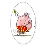 RoDeO PiG Sticker (Oval)
