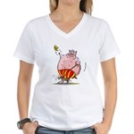 RoDeO PiG Women's V-Neck T-Shirt