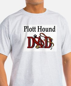 Plott Hound Dad Ash Grey T-Shirt