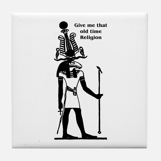 Old Time Religion Tile Coaster