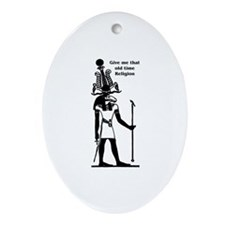 Old Time Religion Ornament (Oval)