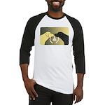 Black & Yellow Labrador tie knot Baseball Jersey