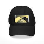 Black & Yellow Labrador tie knot Black Cap