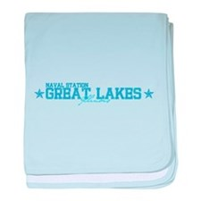 Naval Station Great Lakes baby blanket