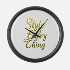 Style is Everything Large Wall Clock