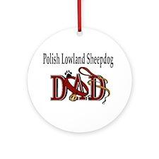Polish Lowland Sheepdog Ornament (Round)