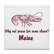 Pause for Claws Tile Coaster