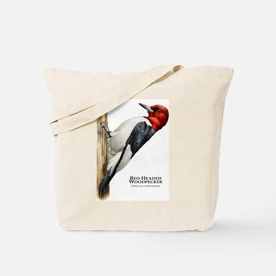 Red-Headed Woodpecker Tote Bag
