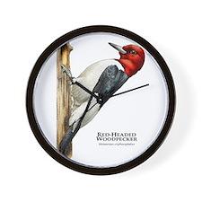 Red-Headed Woodpecker Wall Clock