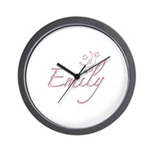 Emily Moon with Stars Wall Clock
