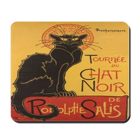Le Chat Noir Mousepad By Irishcountry