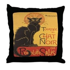 Le Chat Noir Throw Pillow