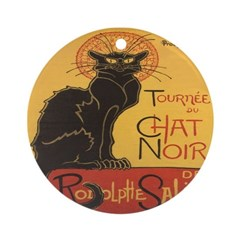 Le Chat Noir Ornament (Round)