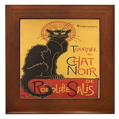 Le Chat Noir Framed Tile