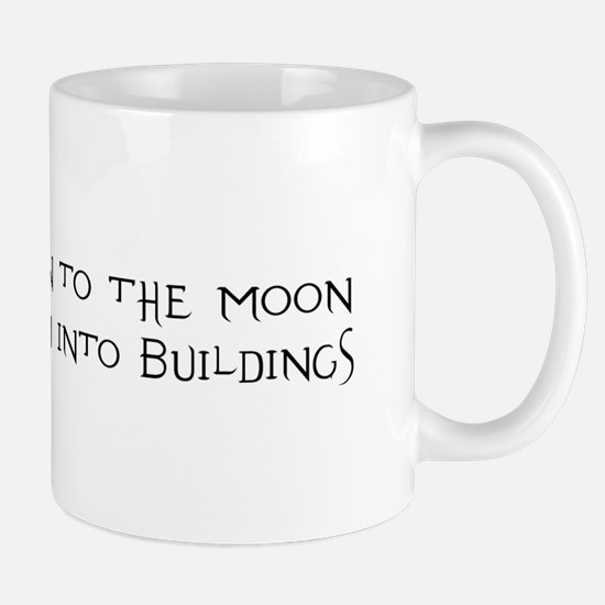 Science Flies Men to the Moon Mug