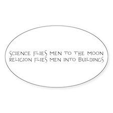 Science Flies Men to the Moon Decal