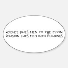 Science Flies Men to the Moon Decal
