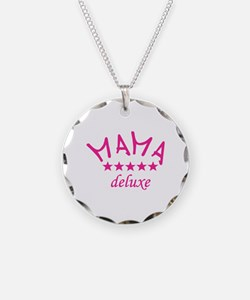 mama deluxe Necklace Circle Charm