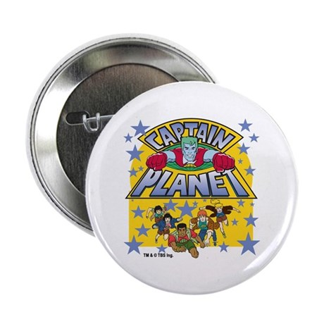 """Captain Planet and Planeteers 2.25"""" Button"""