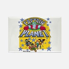 Captain Planet and Planeteers Rectangle Magnet