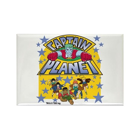Captain Planet and Planeteers Rectangle Magnet (10