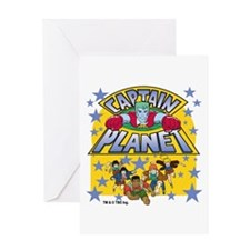 Captain Planet and Planeteers Greeting Card