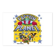 Captain Planet and Planeteers Postcards (Package o