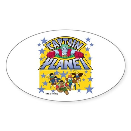 Captain Planet and Planeteers Sticker (Oval)