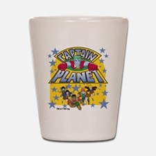 Captain Planet and Planeteers Shot Glass
