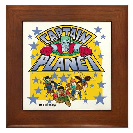 Captain Planet and Planeteers Framed Tile