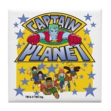 Captain Planet and Planeteers Tile Coaster