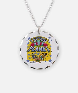 Captain Planet and Planeteers Necklace