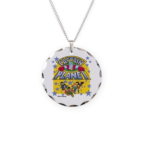Captain Planet and Planeteers Necklace Circle Char