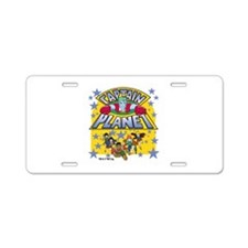 Captain Planet and Planeteers Aluminum License Pla