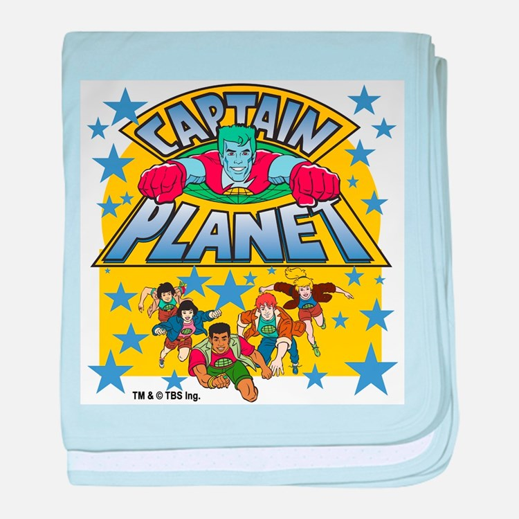 Captain Planet and Planeteers baby blanket