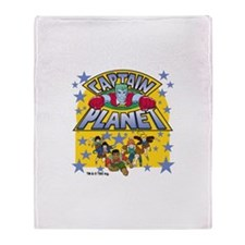 Captain Planet and Planeteers Throw Blanket
