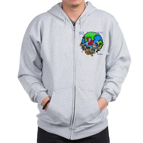 Captain Planet GO PLANET Zip Hoodie