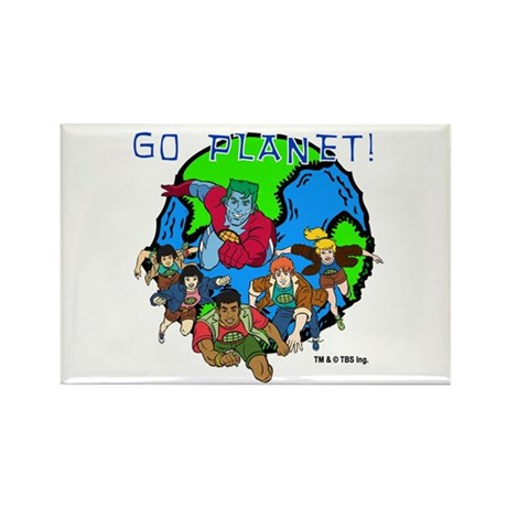 Captain Planet GO PLANET Rectangle Magnet