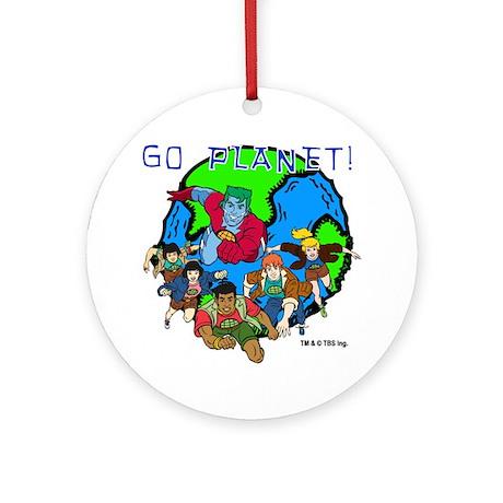 Captain Planet GO PLANET Ornament (Round)