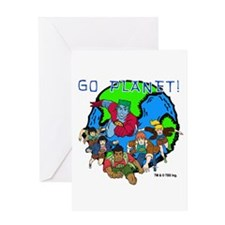 Captain Planet GO PLANET Greeting Card