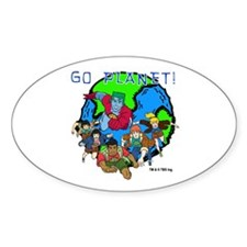 Captain Planet GO PLANET Decal