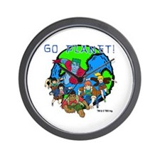 Captain Planet GO PLANET Wall Clock
