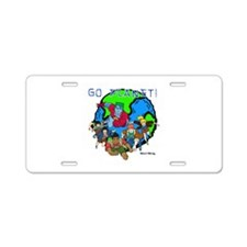 Captain Planet GO PLANET Aluminum License Plate