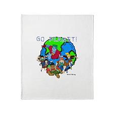Captain Planet GO PLANET Throw Blanket